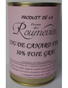 Cou de Canard Farci 30% de Foie Gras - Vue 1