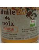 Huile de Noix Roumevies - Vue 2 - Gros plan étiquette