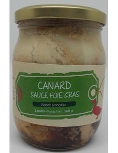 Canard Sauce Foie Gras 560 g - Les Mille Sources - Vue 1