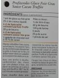 Spécialité culinaire saveur Truffes - Vue 6 - Profiteroles glace Foie Gras Sauce cacao Trufée