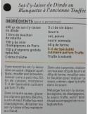 Spécialité culinaire saveur Truffes - Vue 7 - Sot-l'y-laisse de Dinde Blanquette à l'ancienne Truffée