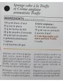 Spécialité culinaire saveur Truffes - Vue 8 - Sponge Cake à la Truffe et crème Anglaise à la Truffe