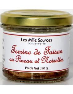 Terrine de Faisan au Pineau et Noisettes 90 g - Vue 1 - Bocal