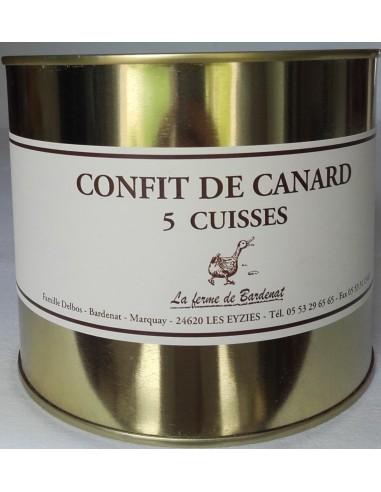 Confit de Canard 5 cuisses Bardenat - Vue 1