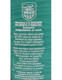 Bière Wheate Ale 33cl - Brasserie des Monts d'Ambazac - vue 3