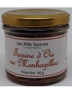 Terrine d'Oie au Montbazillac 90 g - Les Mille Sources - photo 1