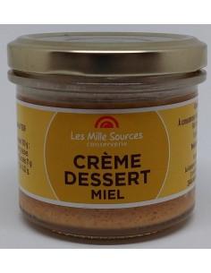 Crème Dessert au Miel 80 g - Les Mille Sources - photo 1