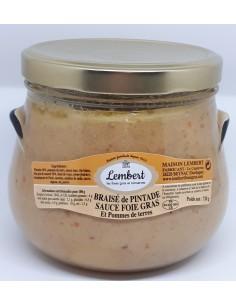 Braisé Pintade Sauce Foie Gras et Pommes Vapeurs 720 g - Maison Lembert - Vue 1