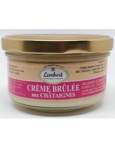 Crème Brûlée aux Châtaignes - 95 gr - Maison Lembert - Vue 1